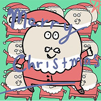 cute textable santa image that says merry Christmas designed by Ashley Rice