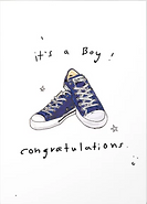 new baby boy card by Ashley Rice