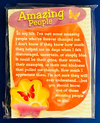 amazing people like you miniature easel back print by Ashley Rice
