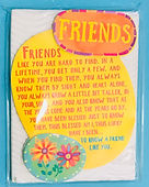 frends like you are hard to find miniature easel back print by Ashley Rice