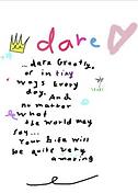 dare greatly poem by Ashley Rice on whimsica greeting card