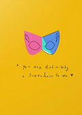 you are definitely a superhero greeting card by Ashley Rice