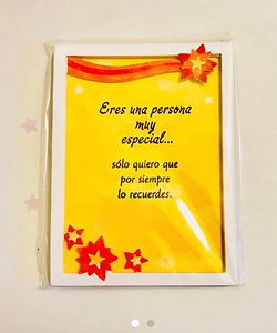 eres una persona muy especial miniature easel back print by Ashley Rice