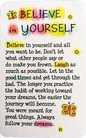 Believe in yourself butterfly wallet card by Ashley Rice published by blue mountain arts