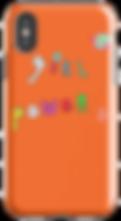 orange girl power phone case by Ashley Rice