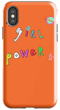 orange girl power phone case by Ashley Rice