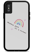 excellent place for a rainbow white phone case by Ashley Rice
