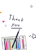 colord pencils thank you by Ashley Rice