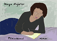 Maya Angelou phenomenal woman greeting card by Ashley Rice