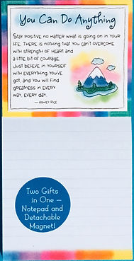 You can do anything magnetic notepad by Ashley Rice published by Blue Mountain arts