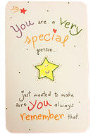 You are a very special person wallet card by Ashley Ricepublished by blue mountain arts