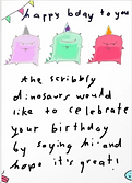 th scribbly dinosaurs birthdy ard by Ashley Rice