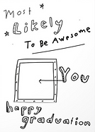 most likely to be awesome you haooy graduation greeting card by Ashley Rice