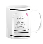 White coffee mug with a poem called I hope your life is awesome designed by Ashley Rice