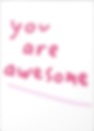 you are awesome greeting card by Ashley Rice