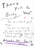 thank you for being you greeting card by Ashley Rice