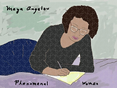 maya angelou jigsaw puzzle by Ashley Rice