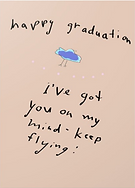 happy graduation keep flying greeting card by Ashley Rice