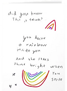 rainbow card by Ashley Rice