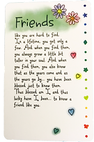 Friends like you wallet card by Ashley Rice publshed by blue mountain arts