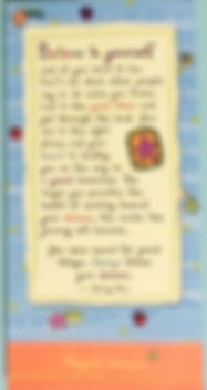 Believe in yourself and always follow your dreams magnetic notepad by Ashley Rice publishedby Blue Mountain arts