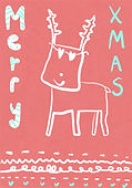cute reindeer xmas greeting card by AshleyRice