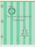 twas the night before Christmas holiday greeting card by Ashley Rice