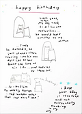 cartoon of dog looking in the mirror existentially funny birthday card by Ashley Rice