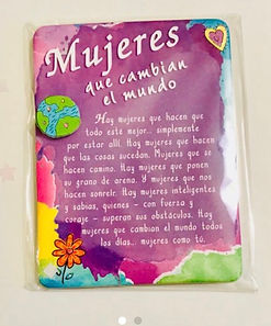 mujees que cambian el mundo mini easel back print with magnet by Ashley Rice