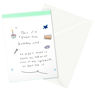 funny greeting card about being gluten free by Ashley Rice