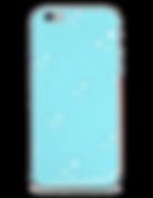 tiny white stars light blue phone case by Ashley Rice