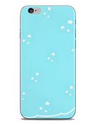 tiny white stars light blue phone case by Ashley Rice
