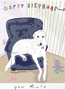 dog in armchair bday by Ashley Rice