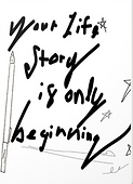 your story is only beginning greeting card by Ashley Rice