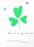 shamrock greeting card by Ashley Rice for Saint Patricks Day