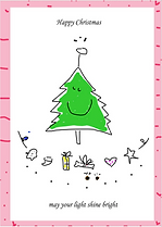 happy christmas card by Ashley Rice