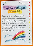 I hope your birthday is incredible greeting card by Ashley Rice published by Blue mountain arts