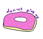 printable digital download donut give up sticker by Ashley Rice