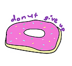 donut give up sticker by Ashley Rice
