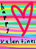 valentine with heart and stripes by Ashley Rice