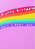have a magic birtday rainbow birthday card by Ashley Rice