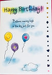 baloons flying high in the sky for you birthday card by Ashley Rice