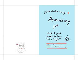 you did a very amazing job nice work instant digital download printable greeting card by Ashley Rice great for encouraging school kids