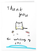 cat thank you card by Ashley Rice
