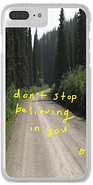 don't stop believing phone case by Ashley Rice