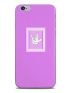 purple phone skin with love in ASL American Sign Language by Ashley Rice