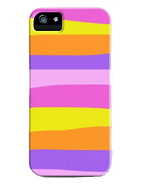 rainbow creamsickle phone case with pink yellow orange and purple stripes by Ashley Rice