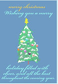 merry christmas tree holiday greeting card by Ashley Rice