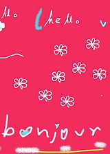 bonjour hello greeting card by Ashley Rice