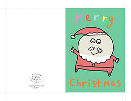 merry Christmas Santa cute digital printable instand download greeting card by Ashley Rice